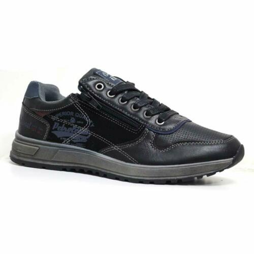 Mens Casual Zip Lace Up Walking Running Hiking Sports Gym Trainers Shoes Size