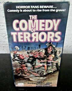 034-The-Comedy-of-Terrors-034-VHS-HBO-Video-RARE-COVER-Vincent-Price-Horror-Fans