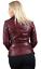 BORDEAUX-da-donna-Vintage-lungo-femminile-100-Giacca-di-pelle-da-motociclista