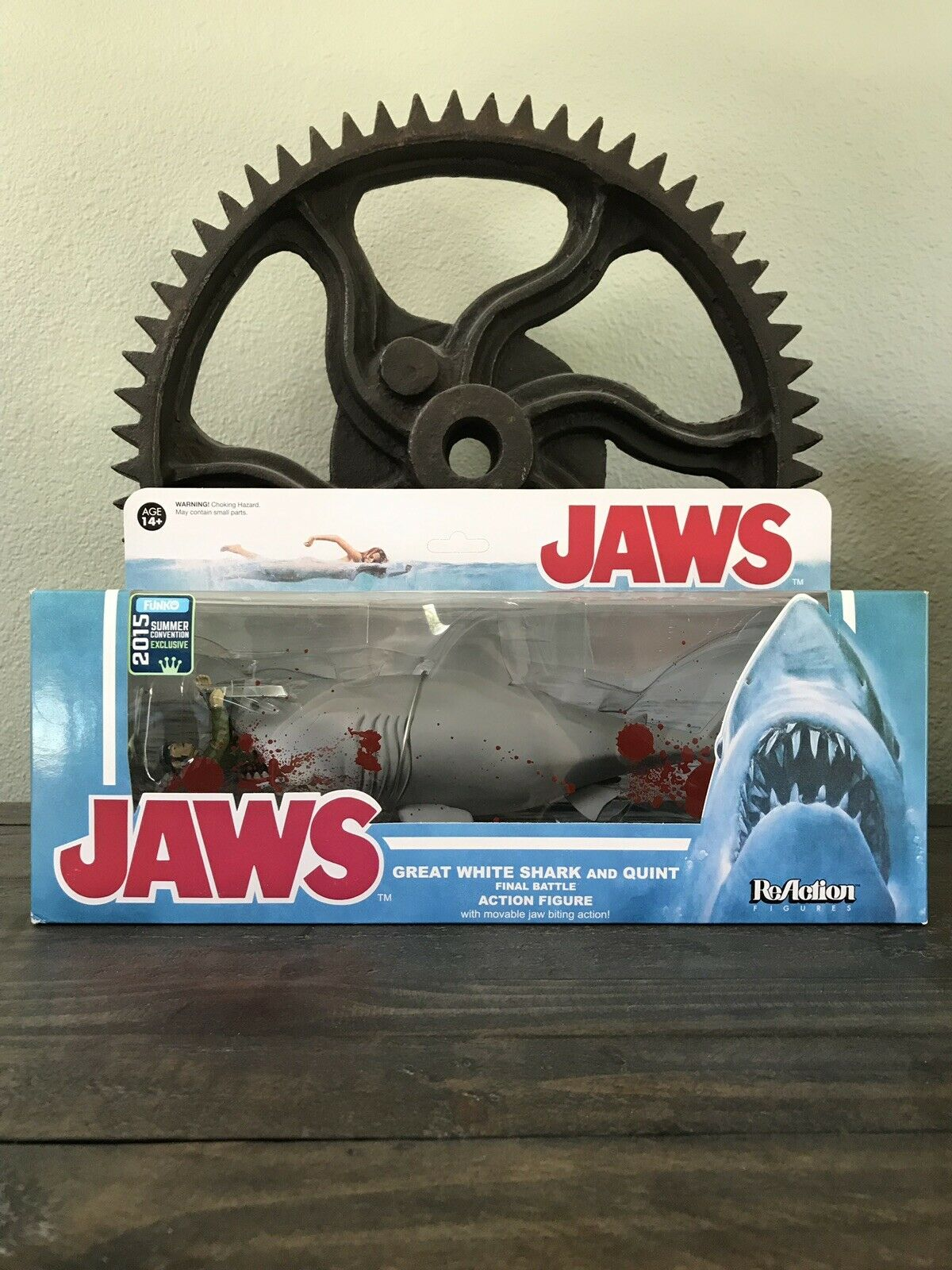 Funko ReAction Jaws Great blancoo Shark and Quint 2015 Summer Convention Exclusive
