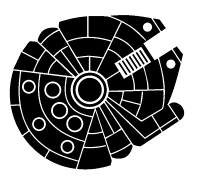 Chewbacca Star Wars Millenium Falcon Car Window Vinyl Decal Sticker Choose Color