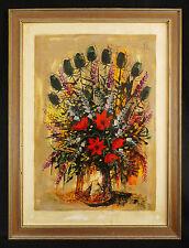 Pierre MAS(1933-)Art Moderne/Floral  Nature morte/Still Life Floral /Stillleben