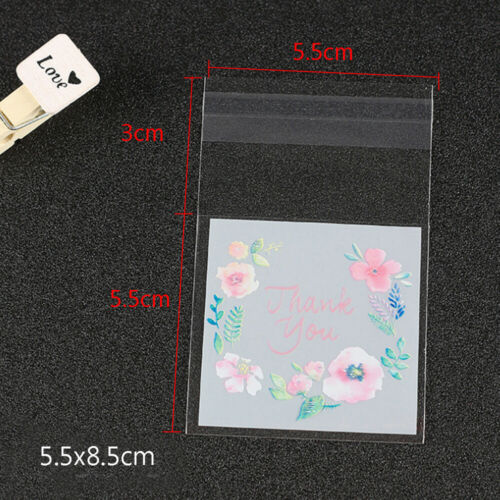you Flower Baking Packaging Bag Cookie Bags Candy Pockets Wrapping Supplies