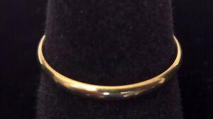 Romel R M I 10k Yellow Gold Wedding Band Size 7 5 Us 2mm Wide Ebay
