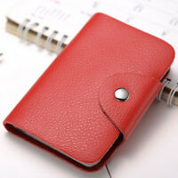 24 Cards Wallet Pu Leather Credit ID Business Card Holder Pocket For Men Women
