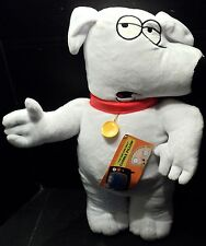 """Family Guy Pillow Brian TV Novelty Character Cuddle throw Decor 22"""" NWT"""