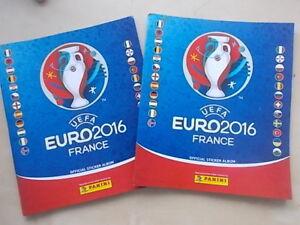 2-x-Uefa-Euro-2016-FRANCE-PANINI-FOOTBALL-STICKER-albums-vide-avec-6-autocollants