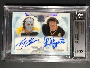 2017-18-The-Cup-Enshrinements-Duo-Phil-Esposito-Gerry-Cheevers-10-BGS-9-10-Auto