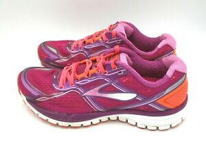 BROOKS-Women-039-s-Ghost-8-Running-Shoes-Size-8-5-Gray-Pink-Turquoise-Sneakers