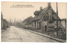 CPA 60 - LANEUVILLE SUR RESSONS (Oise) - 87. La Grande-Rue après le bombardement