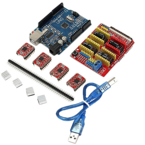 Geekcreit CNC Shield UNO-R3 Board 4xA4988 Driver Kit With Heat Sink For Arduino