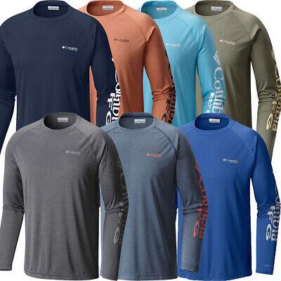 "New Mens Columbia PFG /""Terminal Tackle/"" Omni-Shade Wick Hoodie T-Shirt Top Tee"