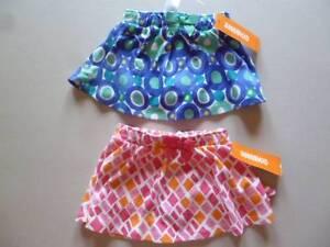 Gymboree-Safari-Smiles-Skort-Skirt-Pink-Orange-OR-Blue-Green-6-12-18-24-mos-NEW