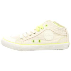 new style a9fc6 3c123 Details zu PEPE JEANS Schuhe Sneaker Industry Neon PLS30846-803 off white  (weiß) NEU