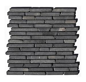 1 Matte Marmor Stab Mosaik Fliesen Boden Wand Bad Kuche Grau St 431