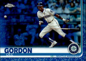 2019 Topps Chrome Blue Refractors #196 Dee Gordon Seattle Mariners