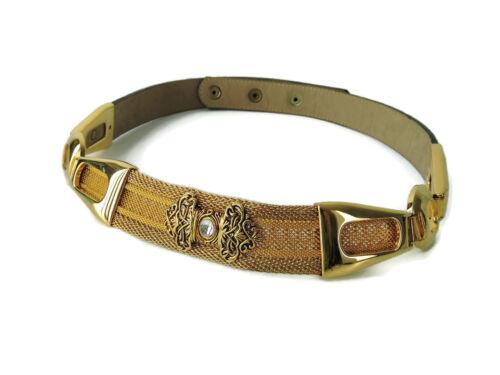 BB Simon Belt Gold-tone Mesh Metal Chain filigree