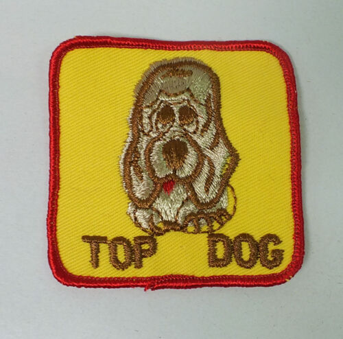 """Vintage 1970/'s NOS /""""Top Dog/"""" Patch Truckers Jacket Novelty Patch"""