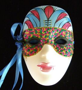 Wall Art Jester Lady Masked Your Choice Color New Orleans Mardi Gras Bourbon
