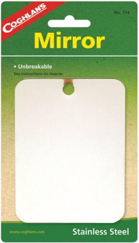"Acier Inoxydable miroir-Incassable-multi-usages Signal Miroir 3 1//4/"" X 4 1//4/"""