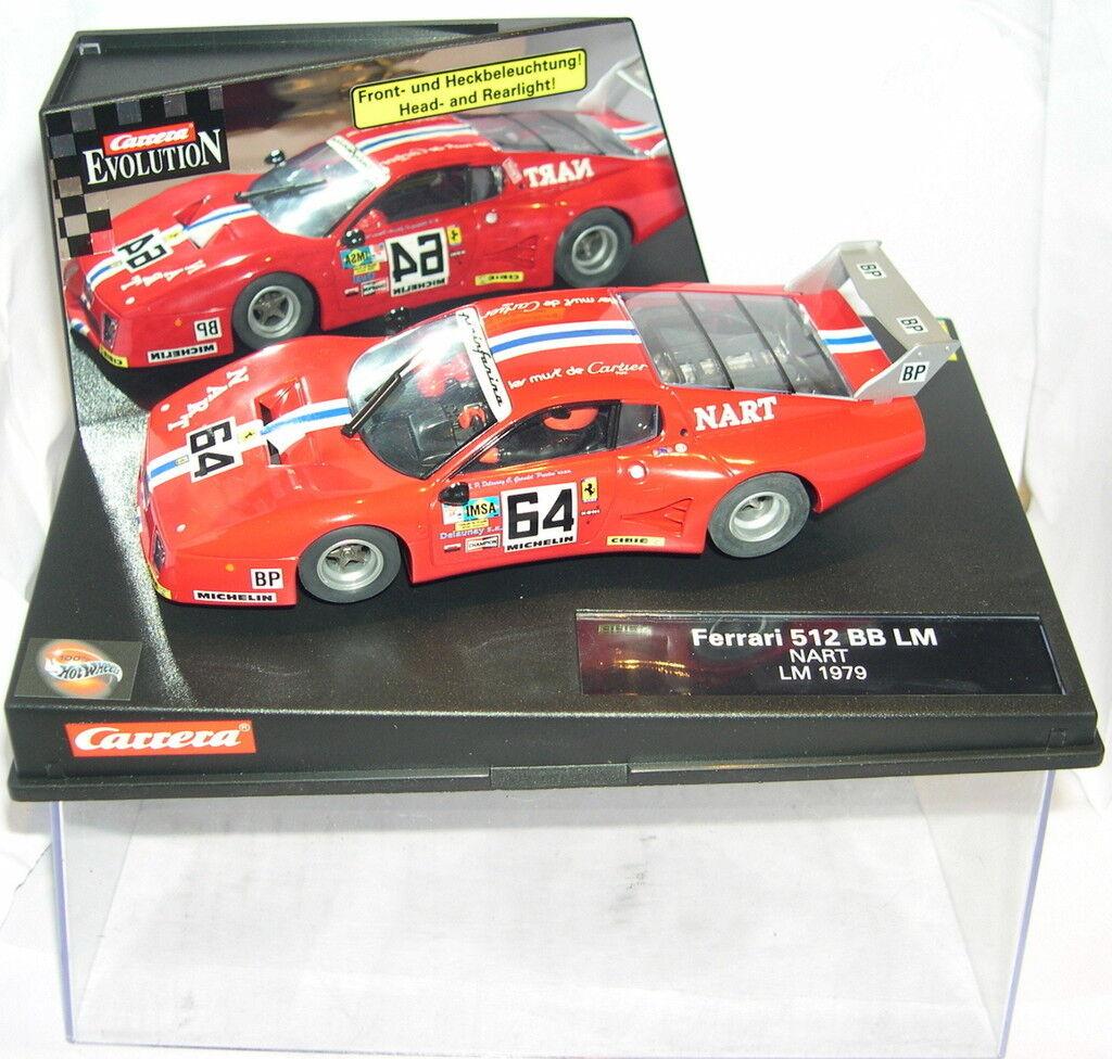 autorera Evolution 25727 Slot auto Ferrari 512 BB  64 Lm Nart Lm 1979 MB