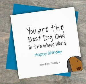Details About Personalised Handmade Birthday Card From The Dog