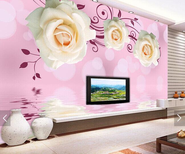 3D Weißen Blumen 589 Tapete Tapeten Mauer Foto Familie Tapete Wandgemälde DE