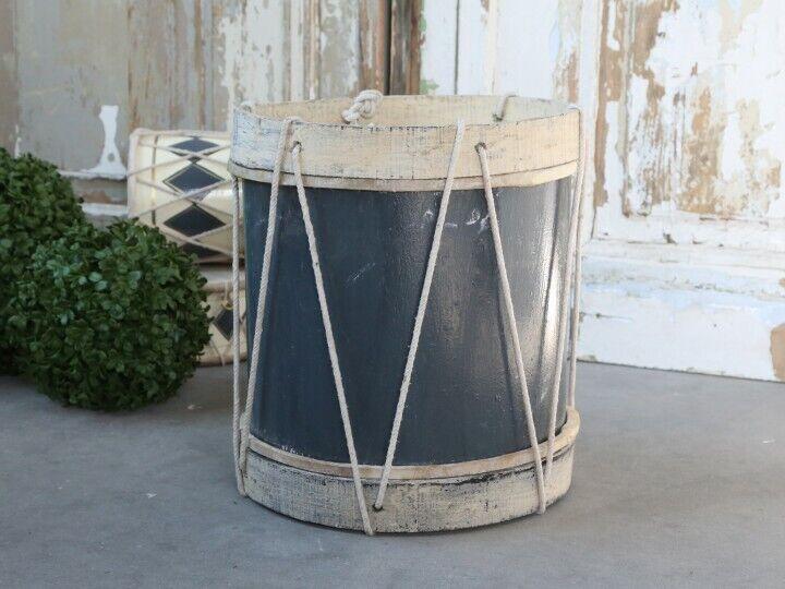 Tambour DECO-Tambour à la main véritable cuir holztrommel militaire tambour Jute