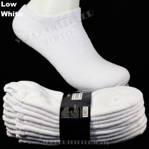 Men/'s Socks 4 8 12 Pairs Lot Thick Cotton Athletic Work Boots Crew Ankle Low Cut