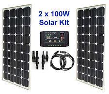 200W 2x 100W Solar Panel Kit panneau solaire charge controller régulateur RV