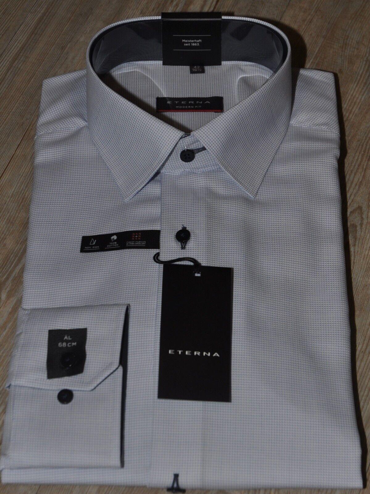 Eterna City-Hemd extra langer Arm Ärmellänge 68 cm Modern Fit hellblau  | Neues Design