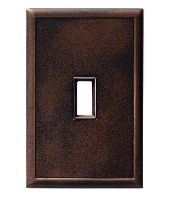 Hampton Bay Oil Rubbed Bronze Single Toggle Light Switch Plate Hidden S