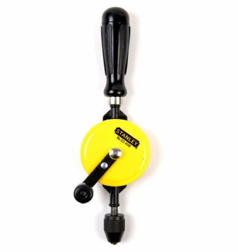 Stanley HANDYMAN HAND DRILL 8mm w// Self Centring 3-Jaw Chuck Double Pinion Gear