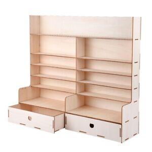 Wood-Paint-Rack-Shelf-Pigment-Ink-Bottles-Organizer-Storage-Stand-Holder-wi-U9J4
