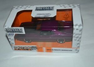 Details about 2019 BIGTIME MUSCLE 1973 PLYMOUTH BARRACUDA PURPLE 1:32