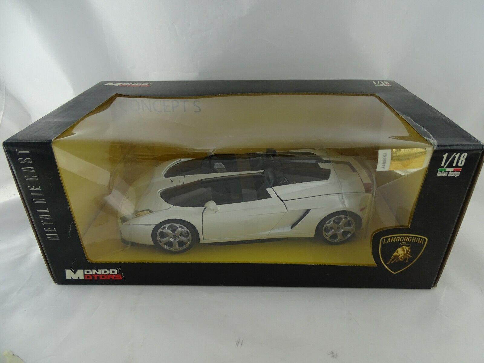 1 18 Mondo Motors Lamborghini Concept S weiß