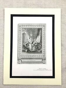 1934 Vintage Francese Stampa Boudouin Pittura La Toilette Lady Spogliatoio