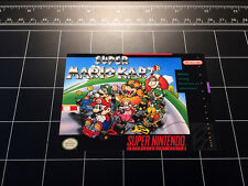 Super Mario Kart SNES box art retro video game vinyl decal sticker nintendo 90s