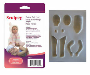 Sculpey-Clay-Mold-INFANT-DOLL-Maker-Flexible-Push