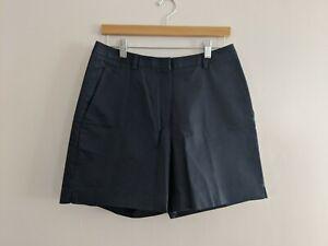 Womens-Brooks-Brothers-346-Advantage-Black-High-Rise-Flat-Front-Golf-Shorts-10