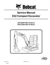 bobcat e32 compact excavator repair service manual 2011 rev 860 pgs rh ebay com bobcat e32 owners manual bobcat e32 parts manual pdf