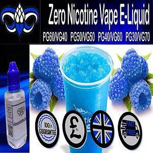 Details about Blue Raspberry VG/PG Vape - E liquid Vape Juice 0mg Nicotine  10ml 30ml 250ml