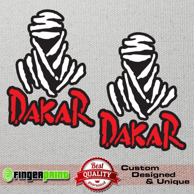 "2 x /""Dakar/"" logo Sticker//Decal Large 4x4 off road rally"