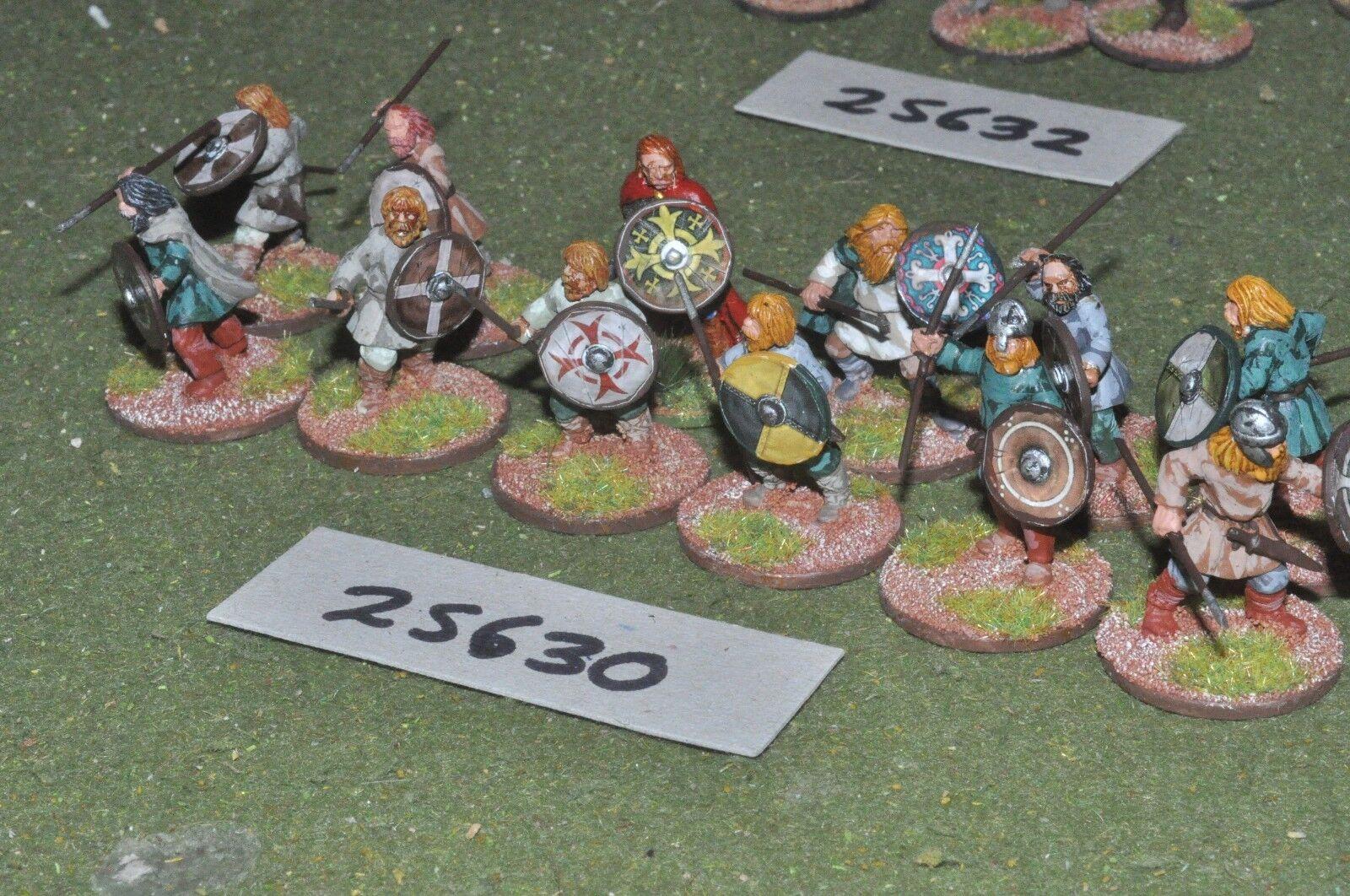 25mm dark ages   saxon - warriors 12 figures - inf (25630)