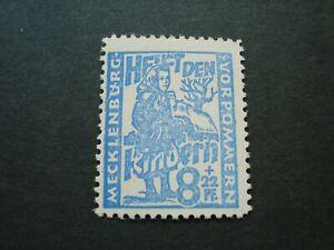 BRIEFMARKE-8-22-PFENNIG-NR-27-II-PLATTENFEHLER-POSTFRISCH-SOWJETISCHE-ZONE-SBZ