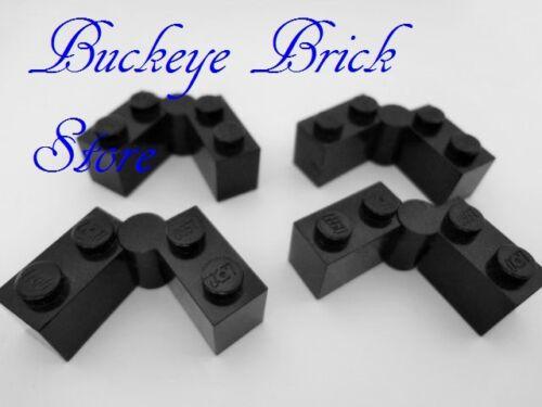 LEGO Black Hinge Hinged Brick 1x4 Swivel Lot//4 4707 7785 8894 4480 6897 6286