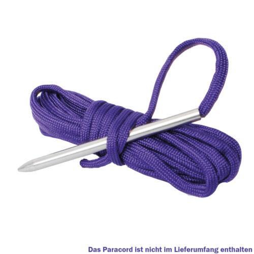 Paracord aguja Stick aguja bastelnadel pulsera de acero inoxidable con rosca interna 78x5 mm