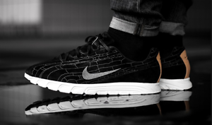 Nike Mayfly Leather PRM Black/Dark-Grey/Linen Mens 9-13 - 816548-003