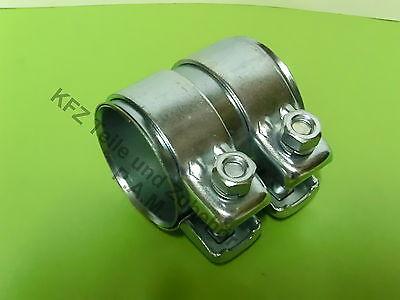 Abrazadera de tubo de escape VW 56-60,5 x 125 mm tubo conector con montagepaste doble abrazadera
