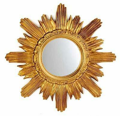 Wandspiegel Gold Spiegel Barock 42 cm Spiegel Sonne Badspiegel 3063